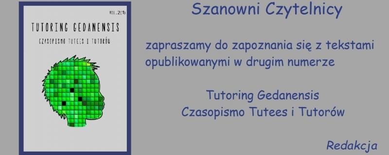 Tutoring Gedanensis Vol.2 - Maj 2017